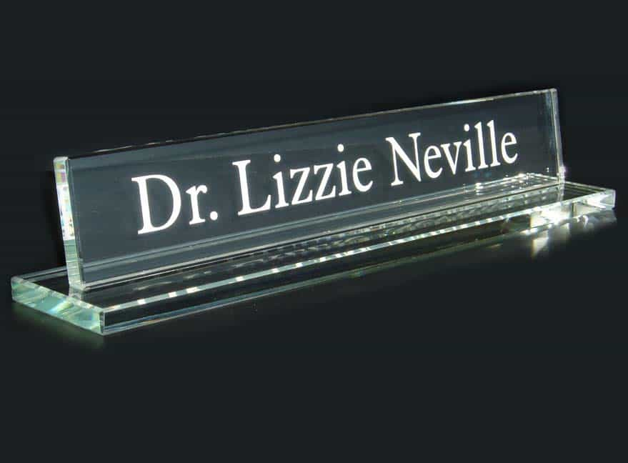 One to One Engraver can supply engraved acrylic desk signs - All types of Engraving Services