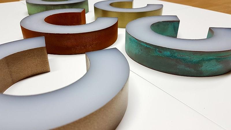 Verometal Coated Acrylic letters - Liquid Metal Polish